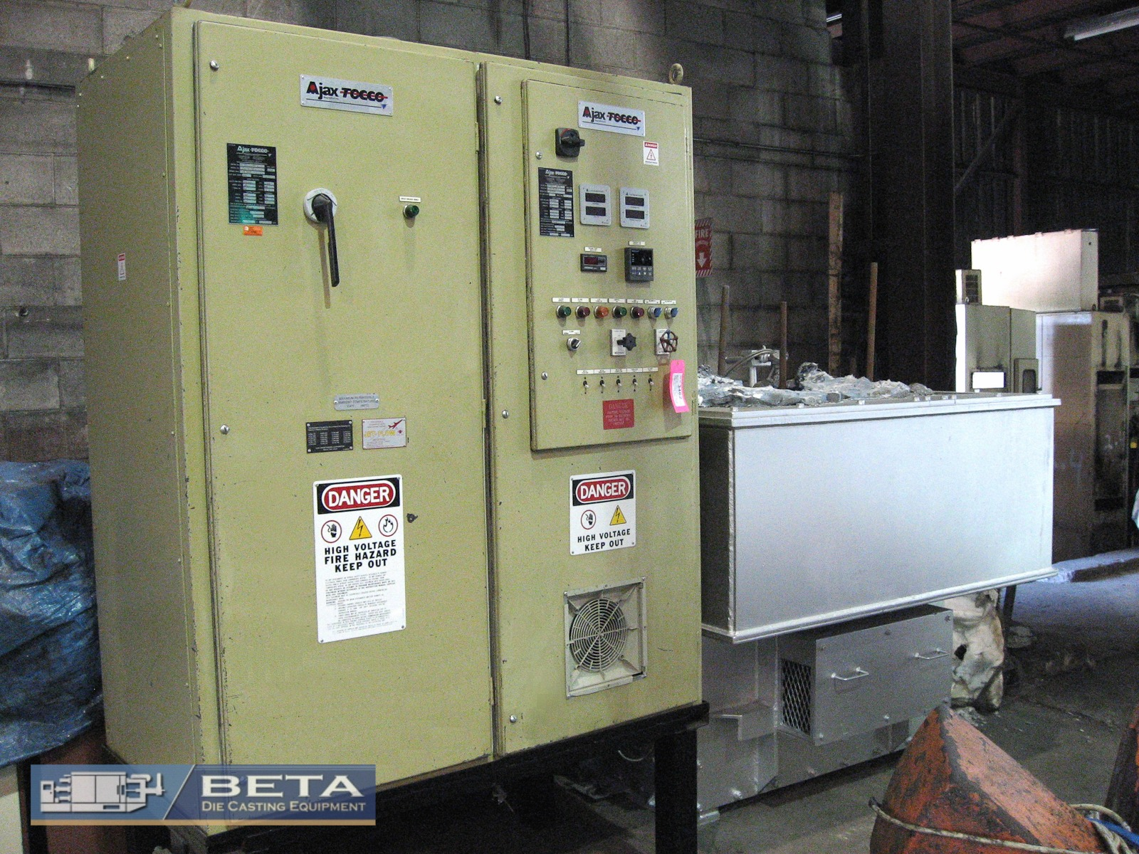 Used Ajax Tocco 3500 Lbs Electric Melting and Holding Furnace #3979