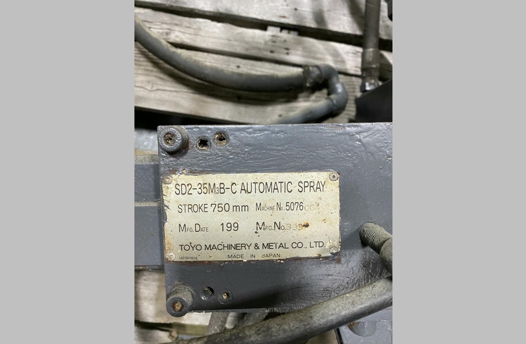 Used Toyo SD2-35M3B-C Sprayer For Die Casting #3982