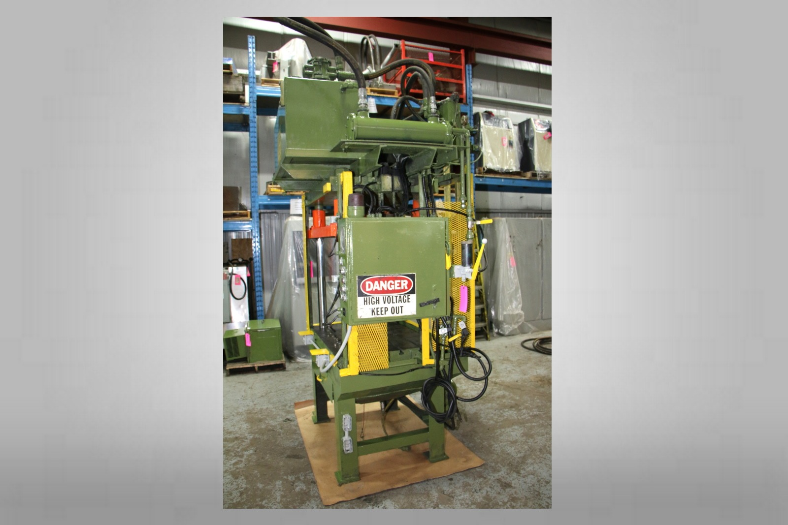 Used Metal Mechanics 35 Ton Trim Press Die Casting #4626
