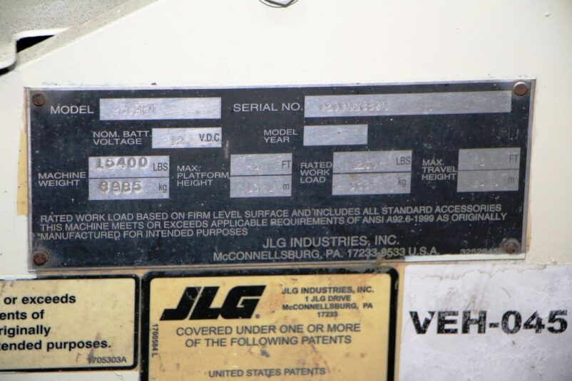 Used JLG 4394RT Rough Scissor Lift #4685
