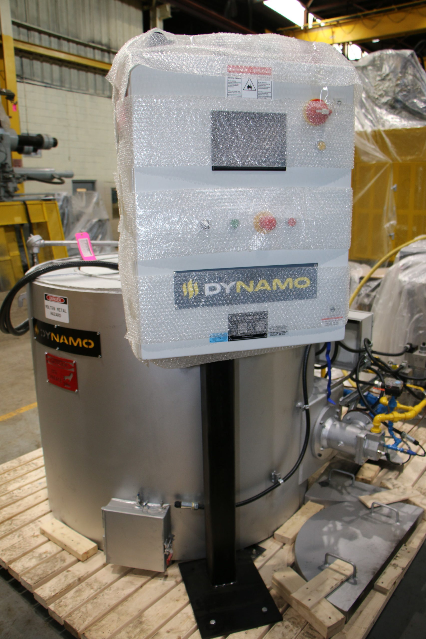 New Dynamo 330 Lbs 150Kw Gas Melting and Holding Furnace #4757
