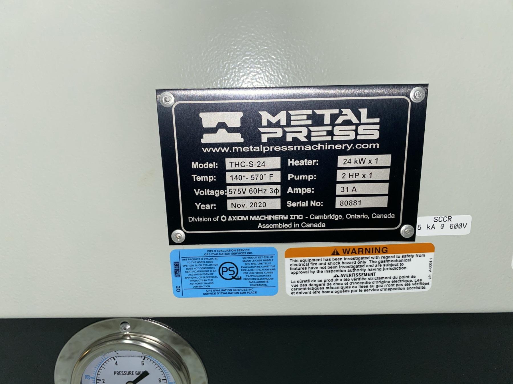 New MetalPress Hot Oil Temperature Control Unit #80881