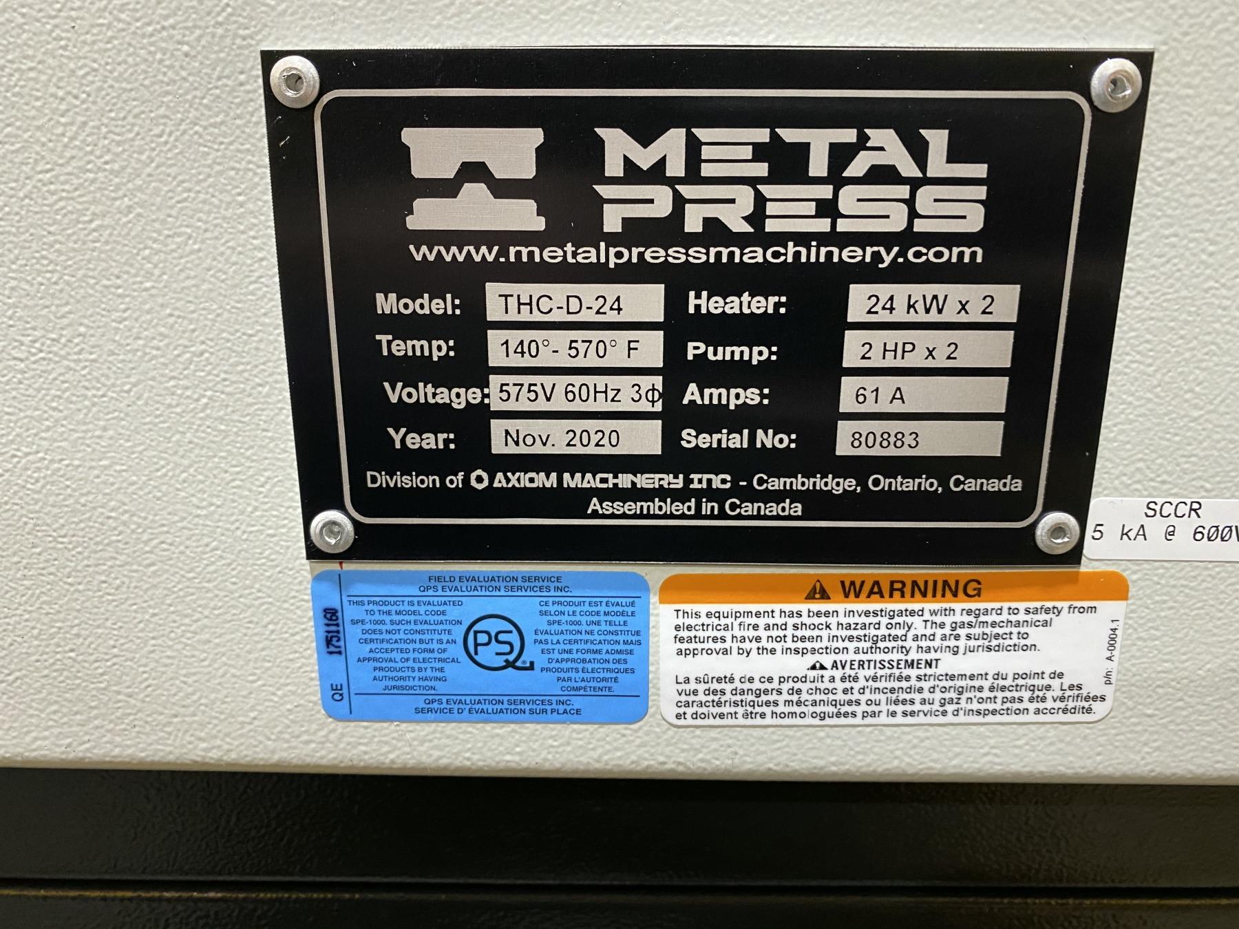 New MetalPress Hot Oil Temperature Control Unit #80883