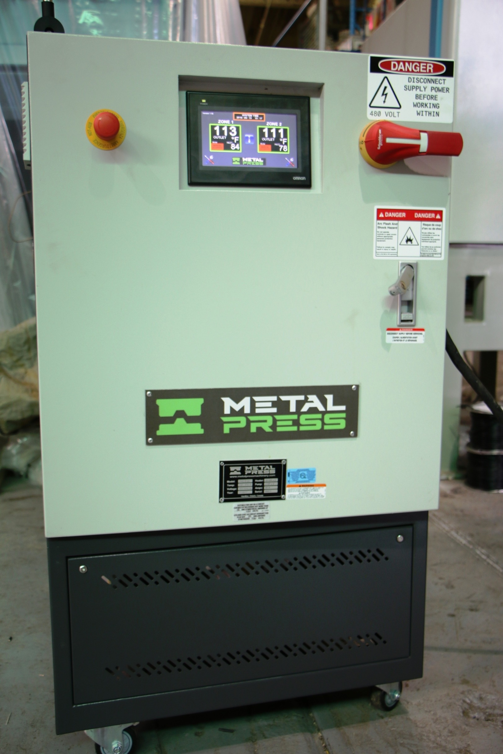 New MetalPress Hot Oil Temperature Control Unit #4719