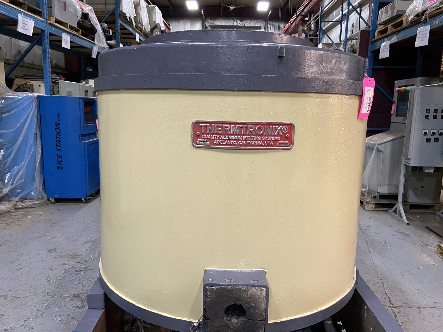 Used Thermtronix 900 Lbs Gas Melting and Holding Furnace #4765