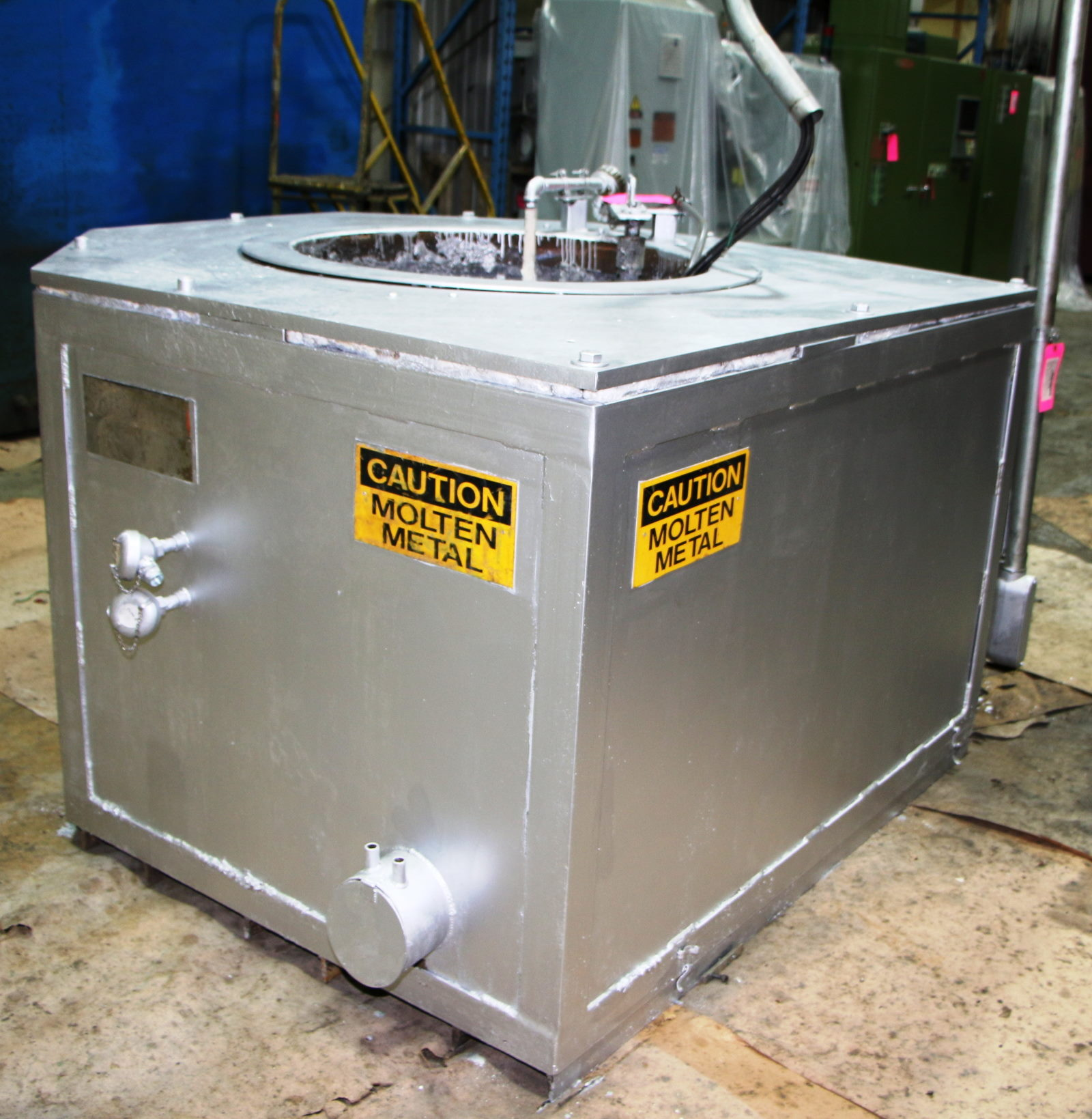 Used Thermaltek 600 lbs Electric Melting and Holding Furnace #4729
