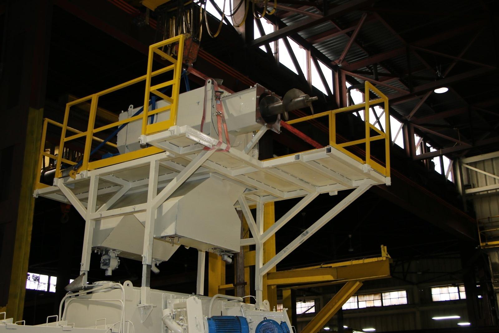 Used BCP Six Wheel Shot Blast Machine Mesh Conveyor #4419