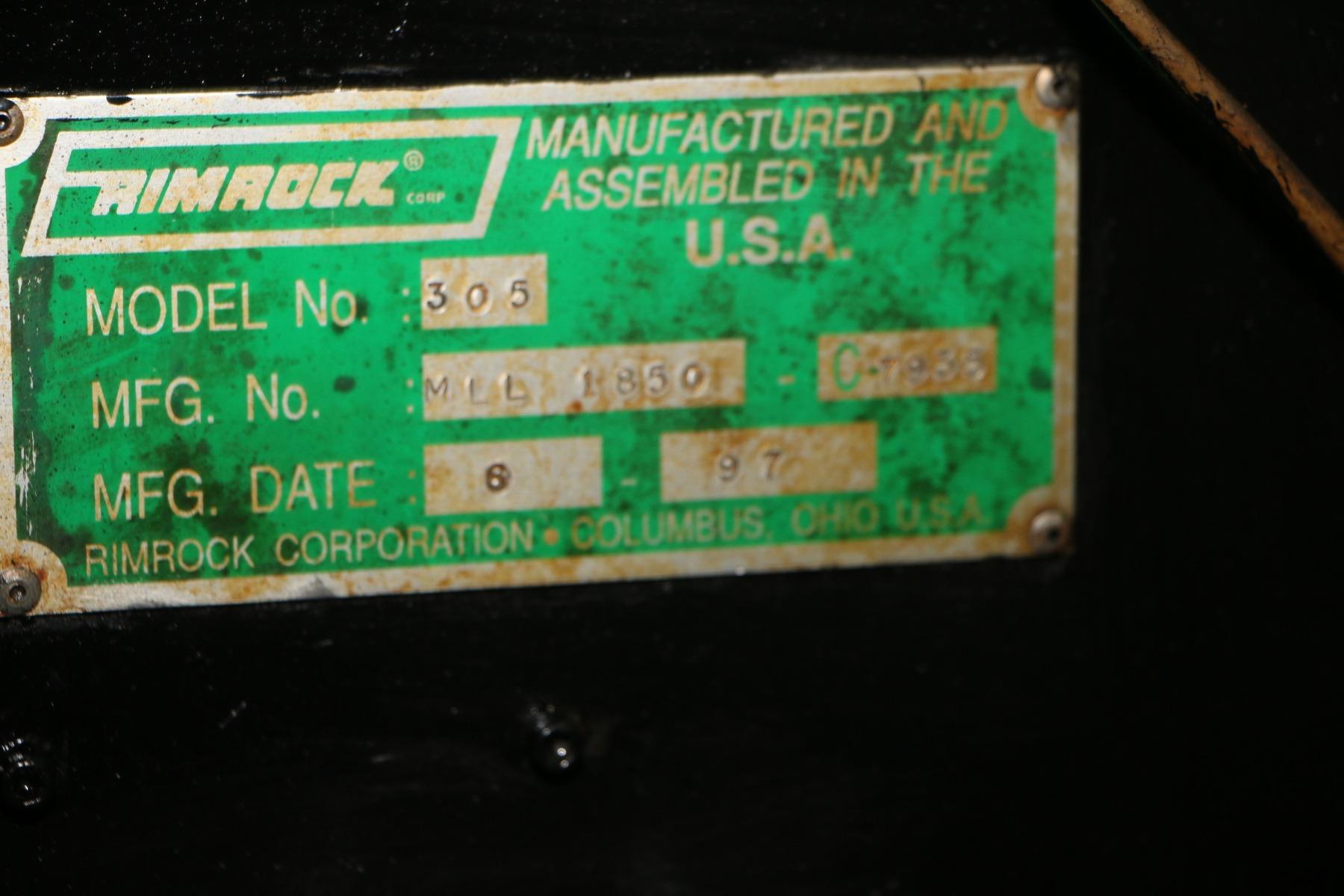 Used Rimrock 305 Ladle Die Casting #4749