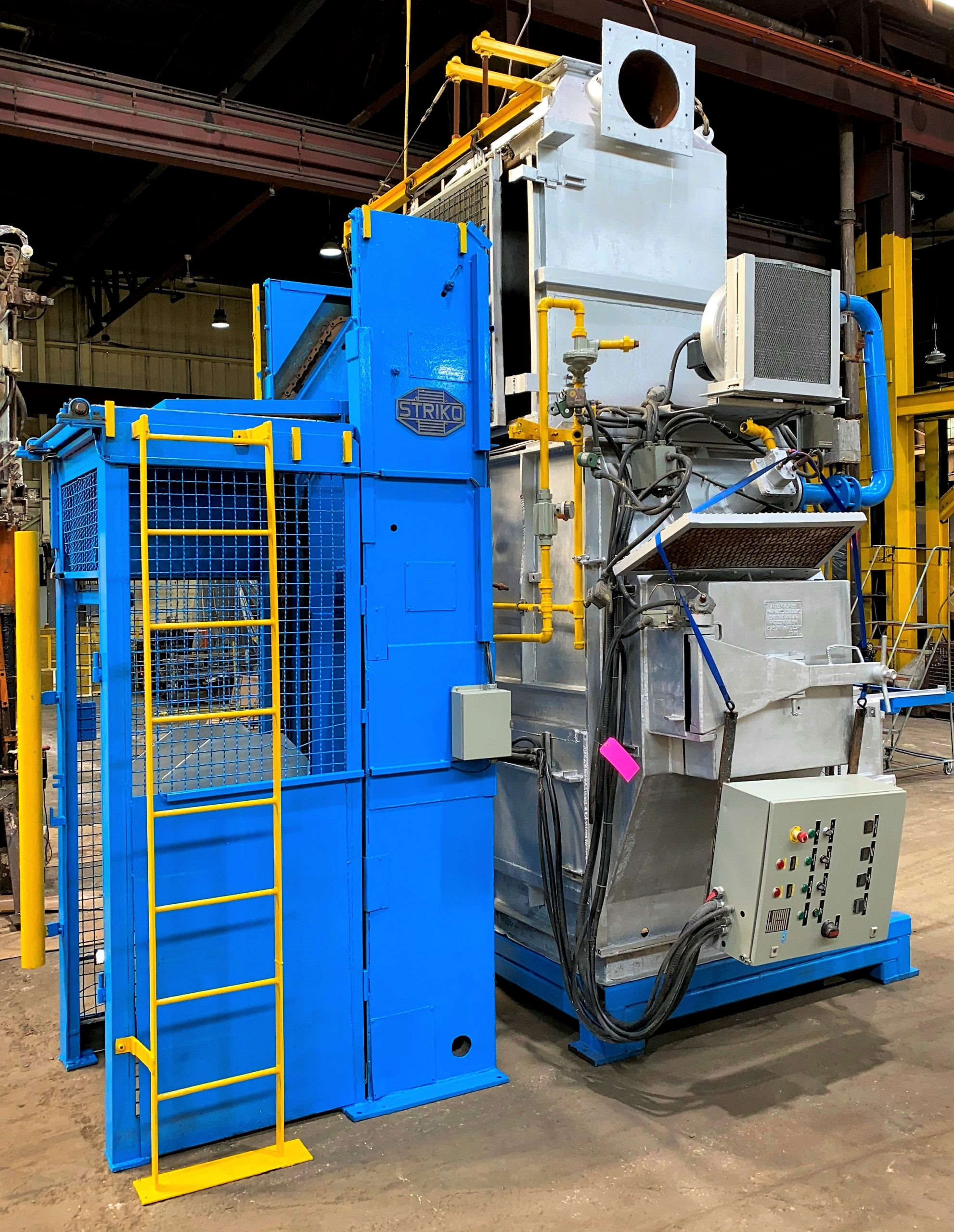 Used Striko 700 Kg Stack Melting Aluminum Gas Furnace #4897